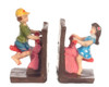Dollhouse City - Dollhouse Miniatures Bookends Seesaw- Colored