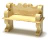 Dollhouse City - Dollhouse Miniatures Victorian Bench Set - Tan
