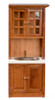 Cabinet with Sink - White and Walnut
