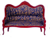 Dollhouse City - Dollhouse Miniatures Victorian Sofa - White Brocade