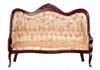 Victorian Sofa with Floral Fabric - Mahogany