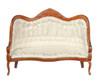 Victorian Sofa - White and Walnut