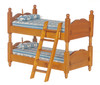 Dollhouse City - Dollhouse Miniatures Bunk Bed with Ladder - Walnut