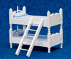 Bunk Bed with Ladder - Blue and White