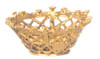 Dollhouse City - Dollhouse Miniatures Rectangular Basket with Gold Lace