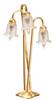 Dollhouse City - Dollhouse Miniatures 3-Tulip Floor Lamp