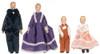 Four pieces Porcelain Doll Family