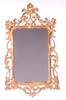 Dollhouse City - Dollhouse Miniatures Victorian Mirror - Gold Plated