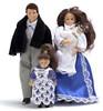 Victorian Doll Family - Brunette - 4 pc