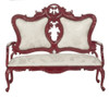 Dollhouse City - Dollhouse Miniatures Fancy Victorian Sofa -  Mahogany