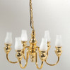 6-Arm Frosted Chimney Chandelier