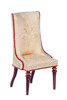 High Back Side Chair - Mahogany