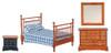 Double Bed Set - Walnut
