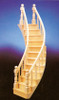 Dollhouse City - Dollhouse Miniatures 2-Rail Stairs Left - Assembled