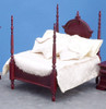 Four Poster Bed - Mahogany