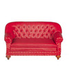 1880 Sofa - Red and Walnut