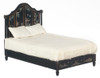 Chinese Decorated Bed - Black