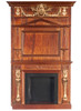 Figurehead Fireplace and Handpainted - Walnut