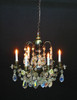 6-Arm Crystal Chandelier