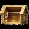 Lakeside Retreat Log Cabin Dollhouse Kit