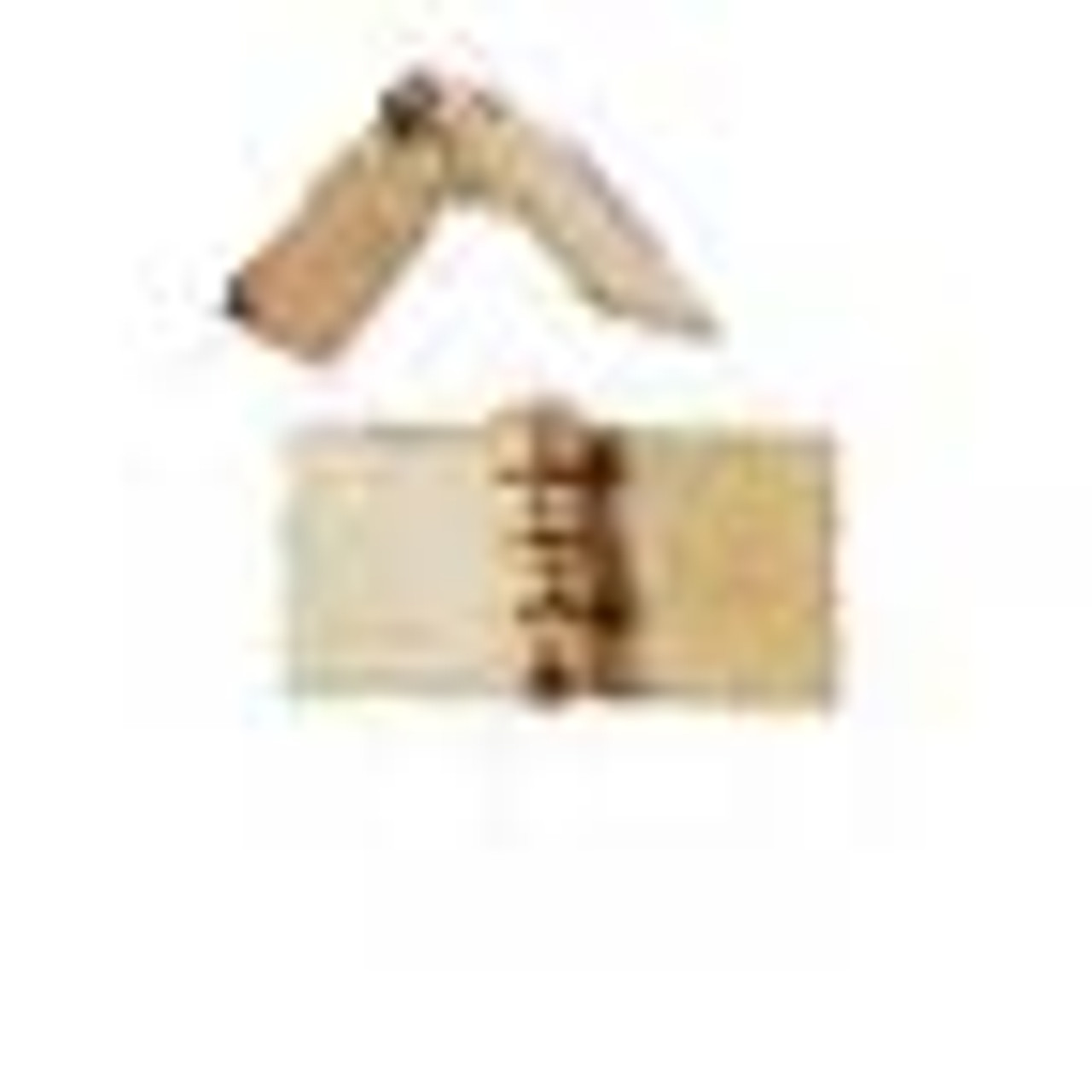 Square Hinges - Brass