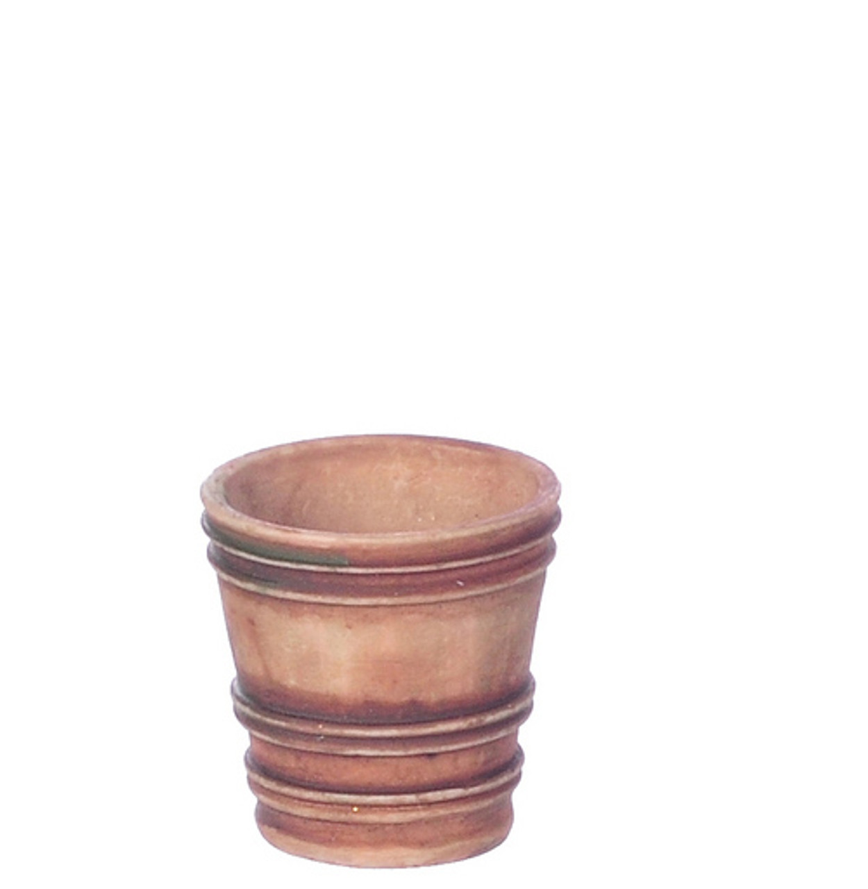 Dollhouse City - Dollhouse Miniatures French Country Pot - Medium and Gray