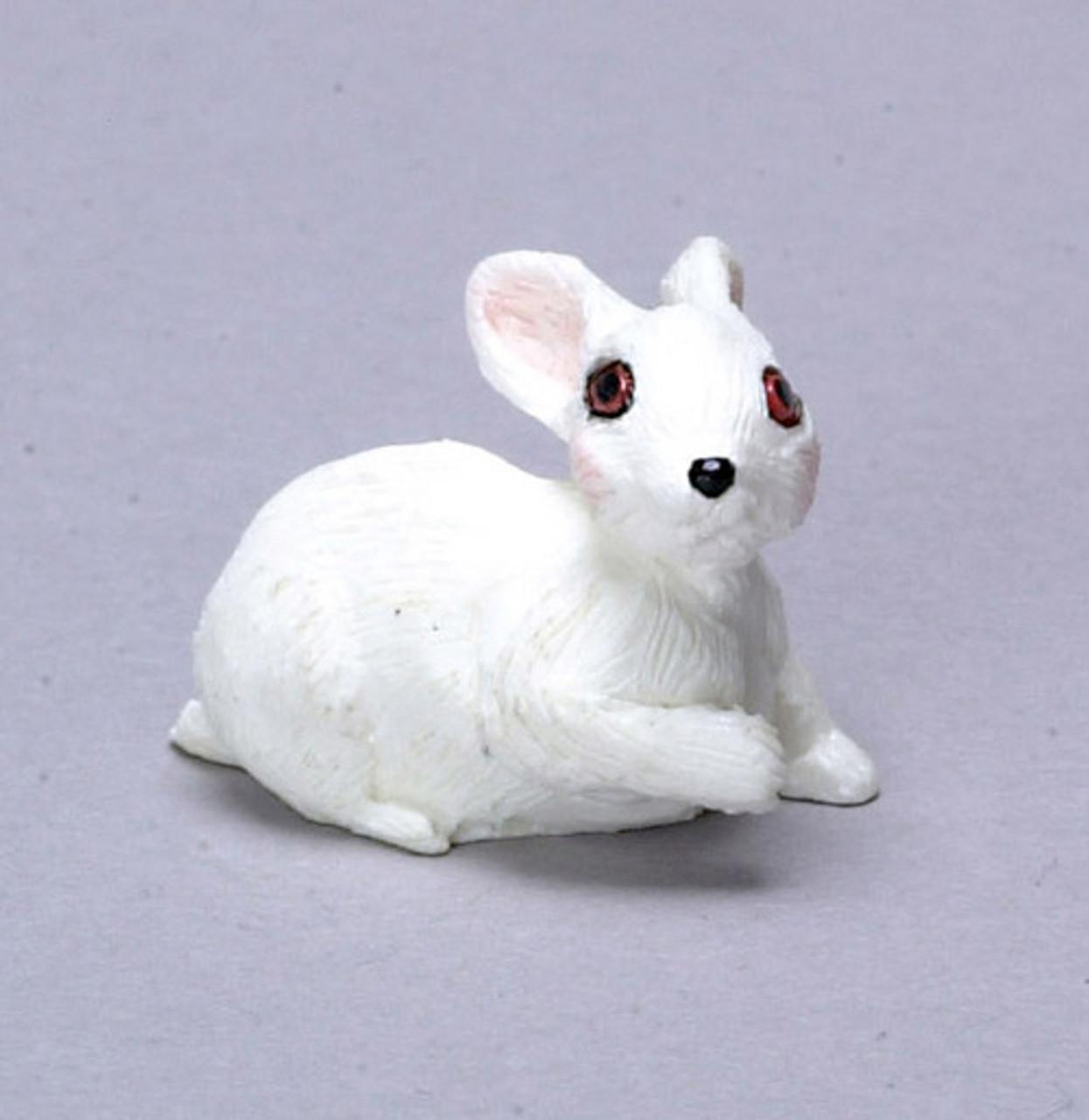 Dollhouse City - Dollhouse Miniatures Rabbit - White