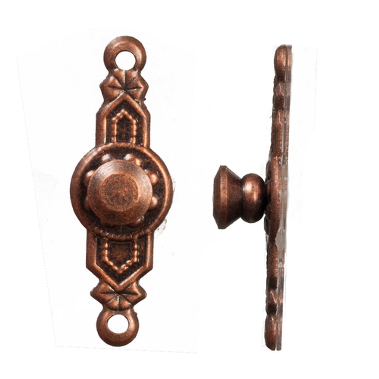 Colonial Door Knobs Set - Bronze