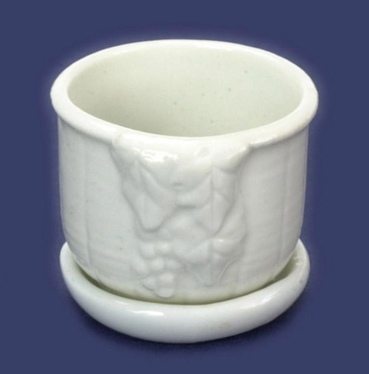 White Porcelain Planter - Grape