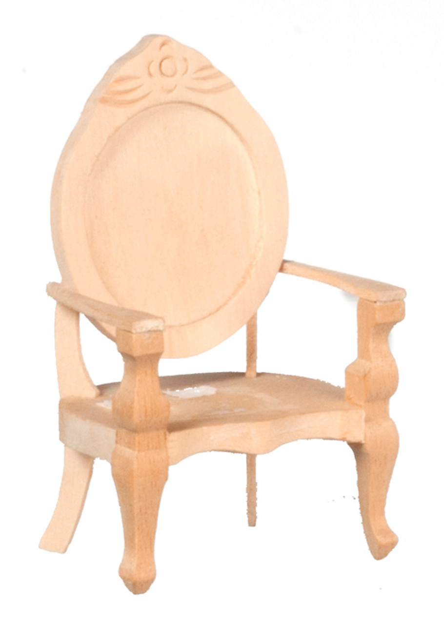 Dollhouse City - Dollhouse Miniatures Chair - Unfinished