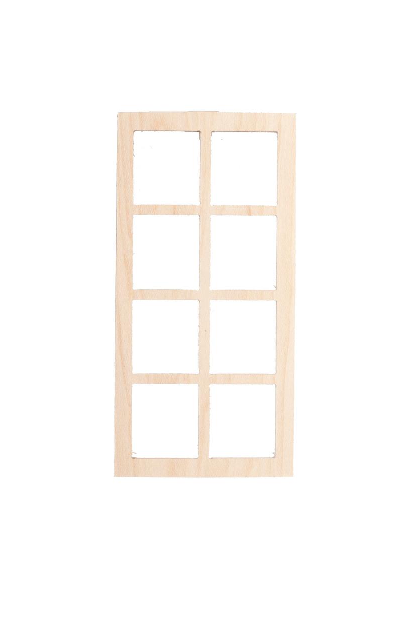 Dollhouse City - Dollhouse Miniatures 4 Over 4 Single Window - No Trim