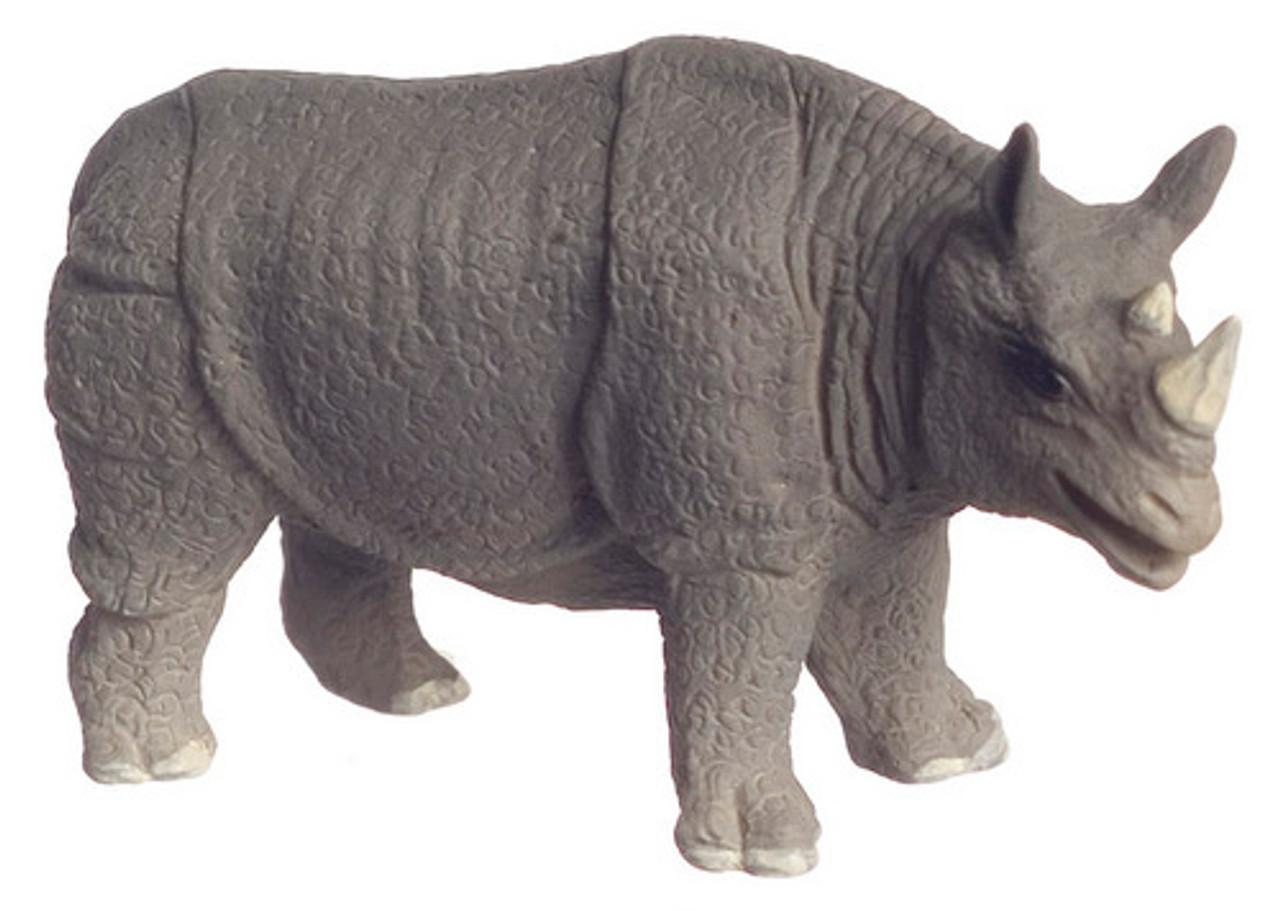 Dollhouse City - Dollhouse Miniatures Scale Rhinoceros