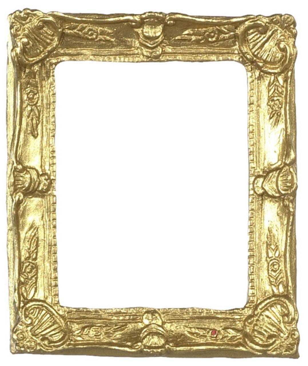 Dollhouse City - Dollhouse Miniatures Small Rectangular Frame - Gold