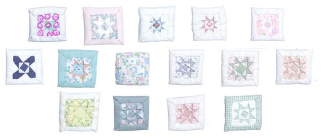Dollhouse City - Dollhouse Miniatures Pillows - Assorted Colors