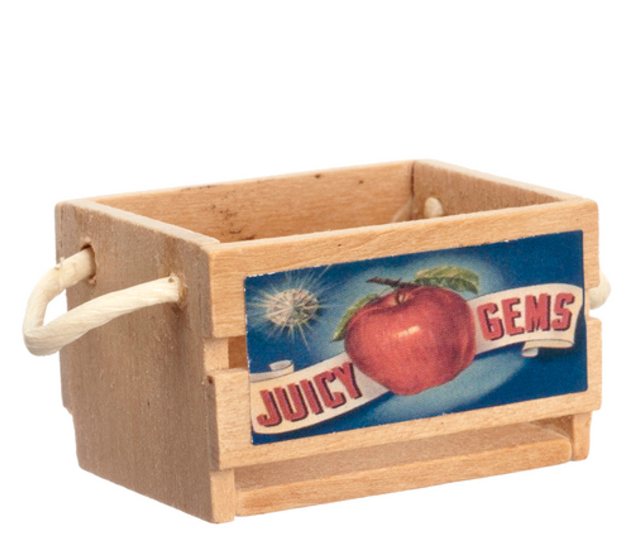 Empty Fruit Crate with Decal