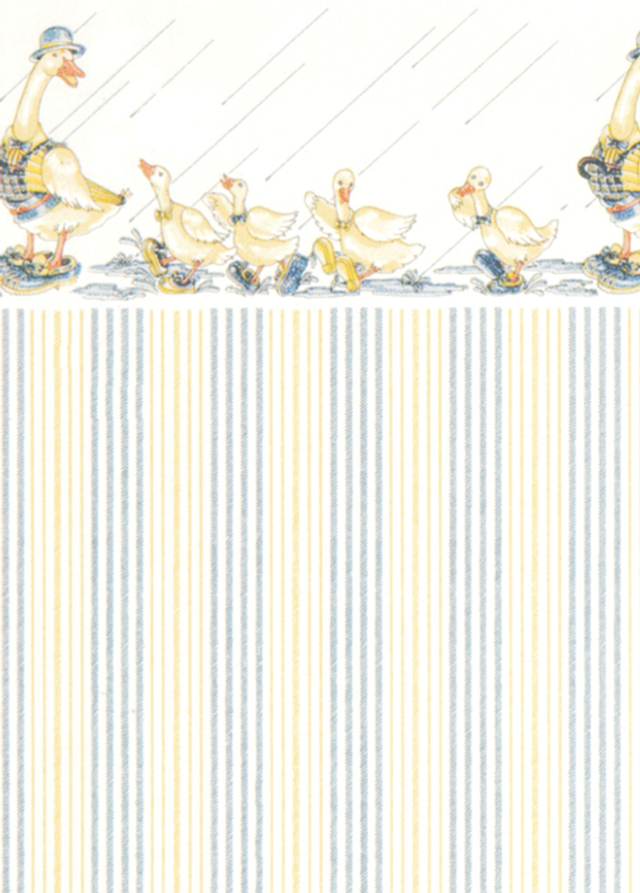 Wallpaper Dapper Ducks Set - White