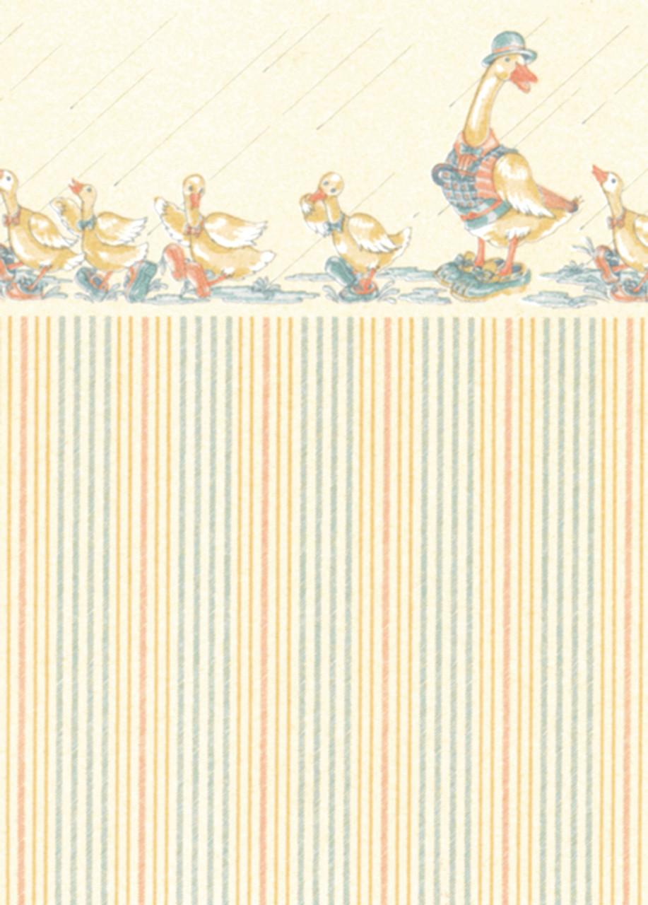 Wallpaper Dapper Ducks Set - Cream