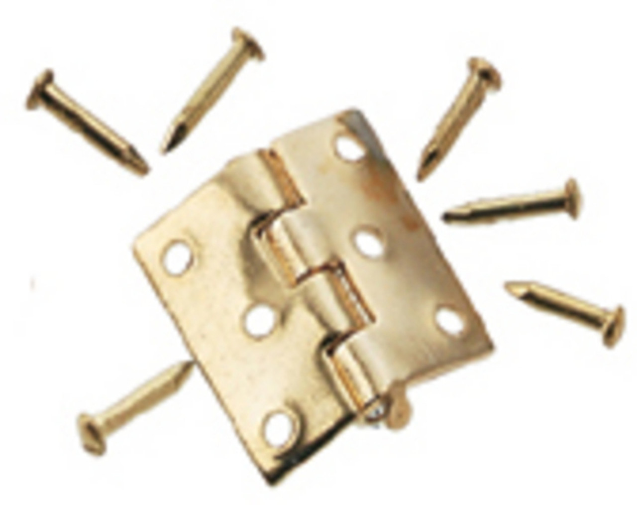 Butt Hinges with Nails - Brass