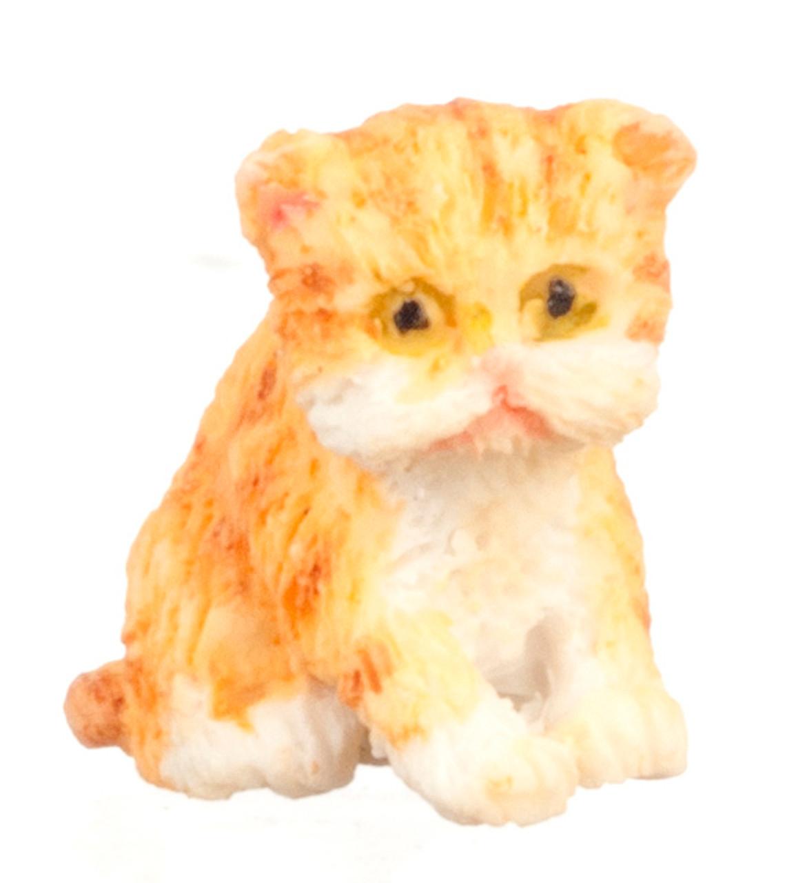 Dollhouse City - Dollhouse Miniatures Persian Kitten - Orange