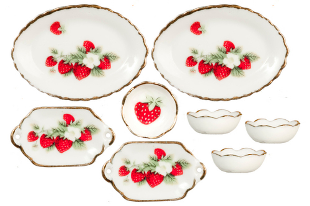Bowls and Platters Set - Strawberry