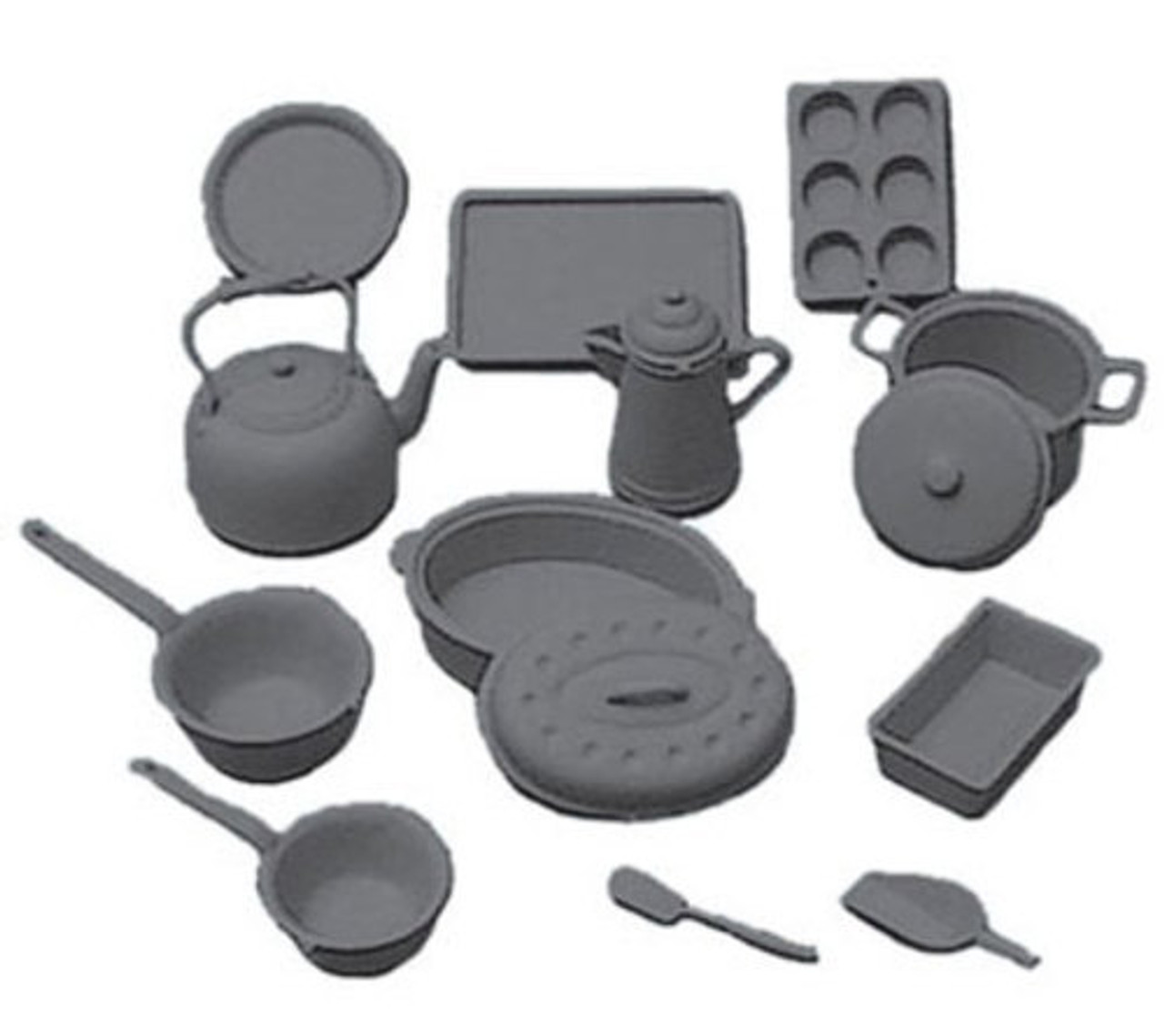 Cookware Kit - Black Fourteen pieces