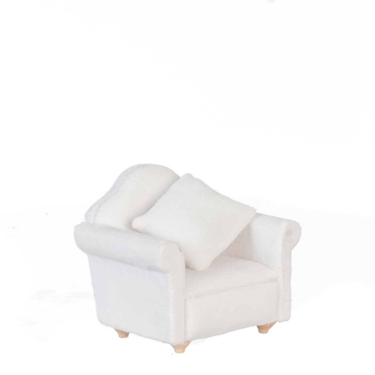 Chair with Pillow - White