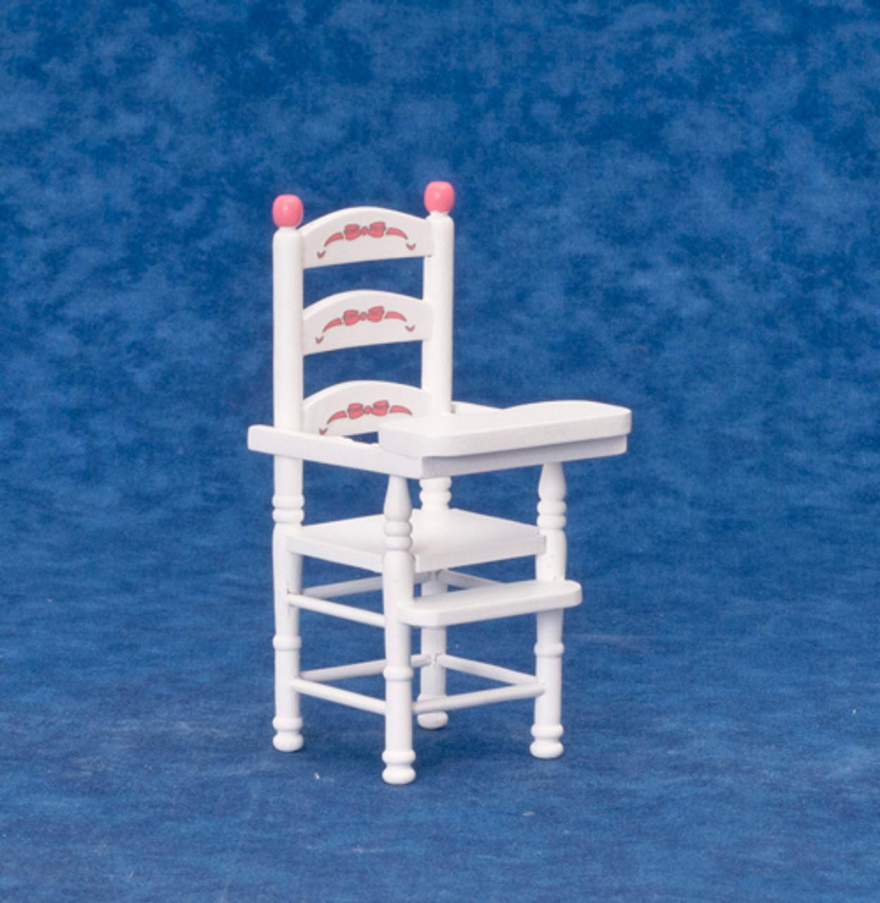 Dollhouse City - Dollhouse Miniatures High Chair - White