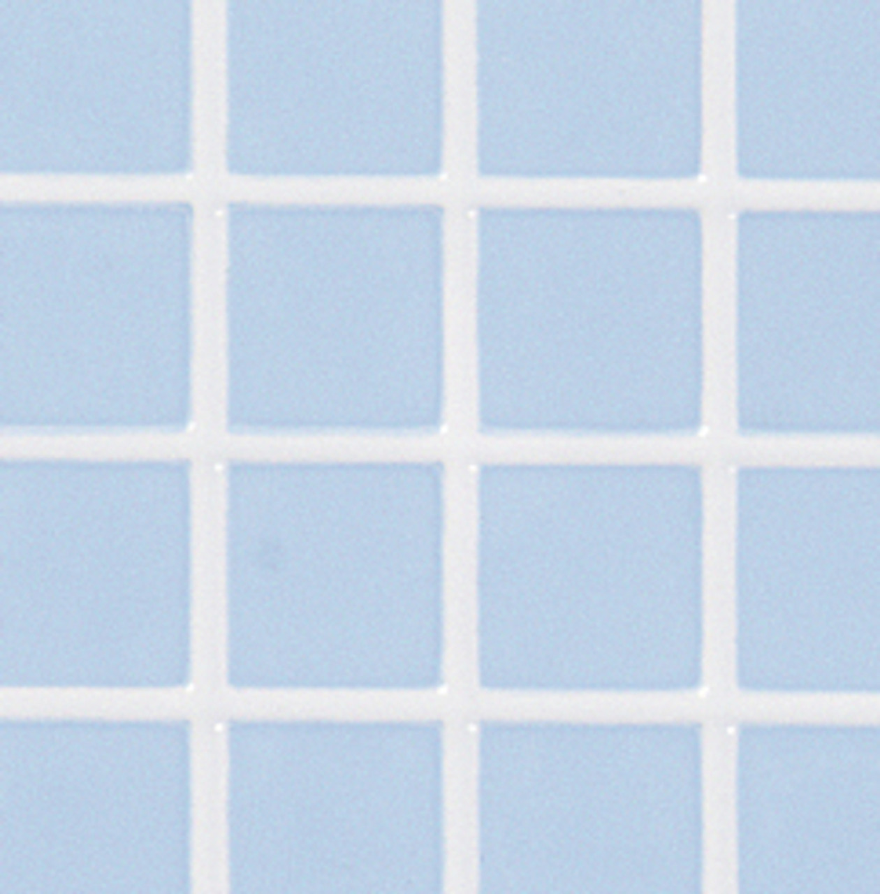 Blue Tiles with White Grout