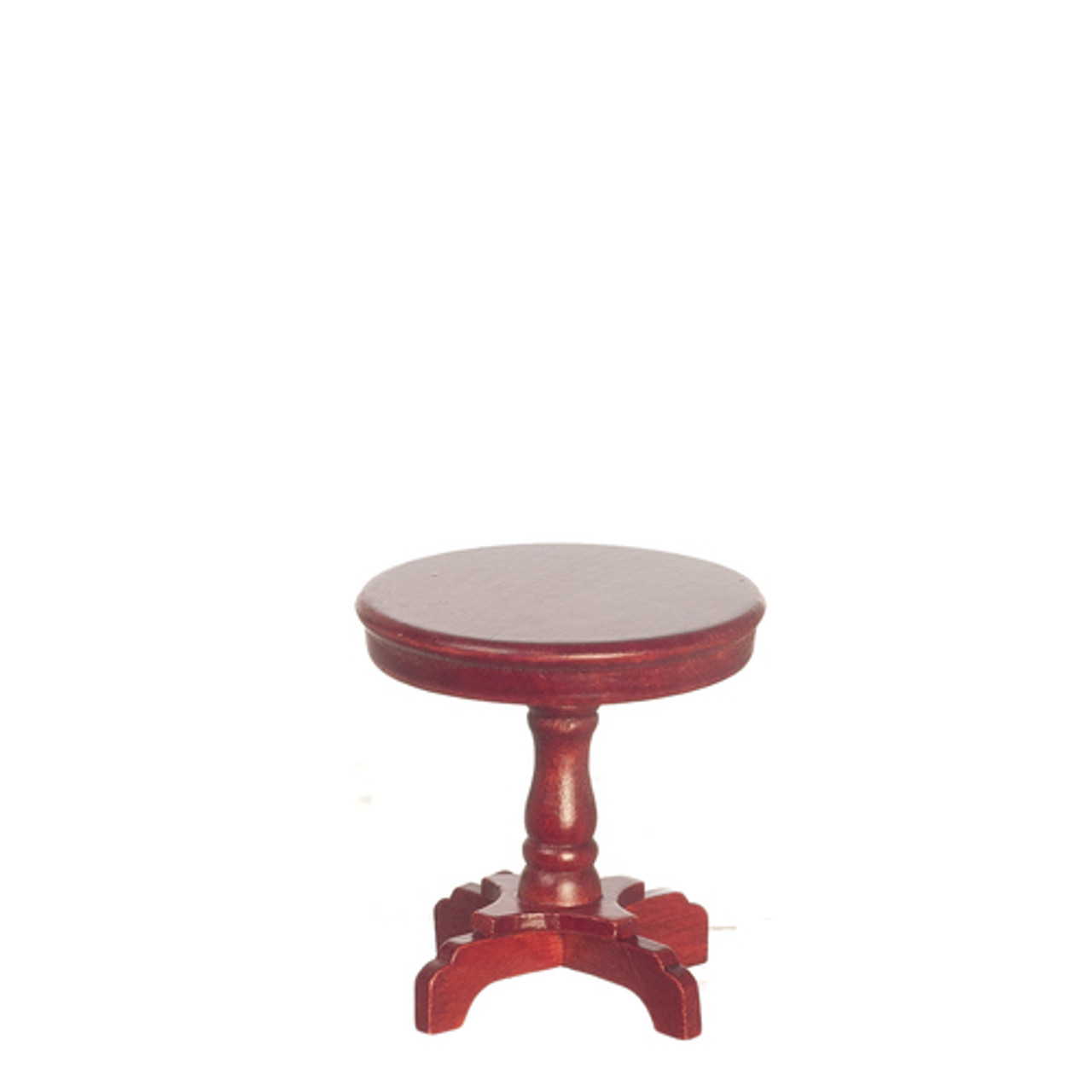 Victorian Pedestal End Table - Mahogany