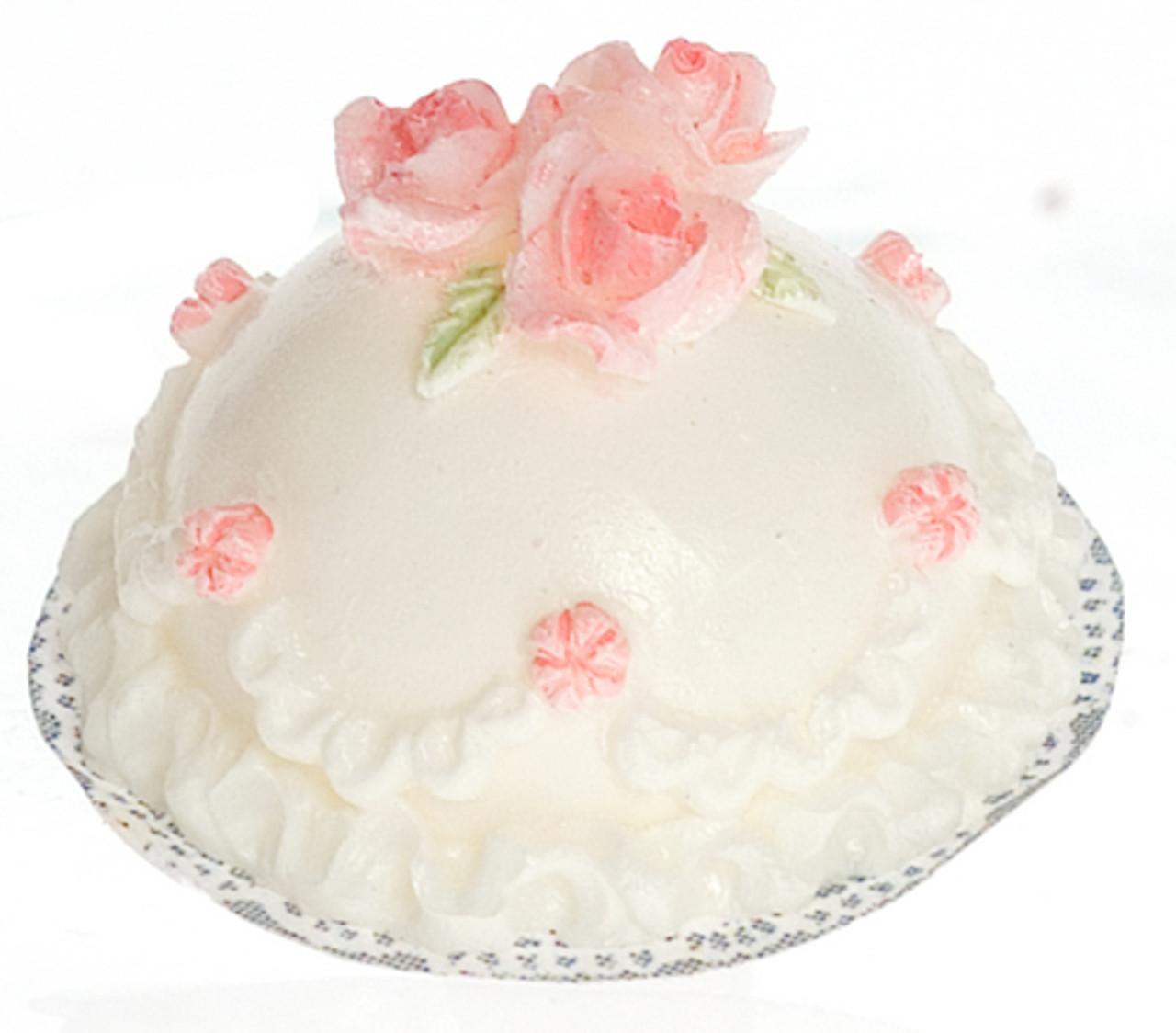 Red Cake with Pink Rose Set
