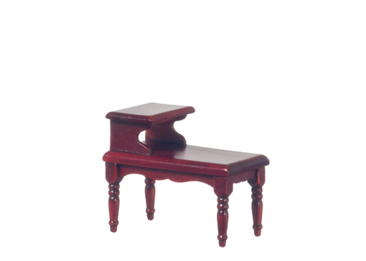 2-Tier End Table - Mahagony and Blue