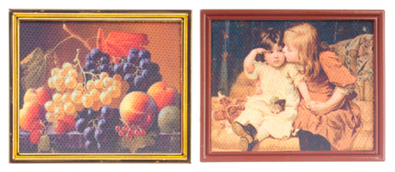 Children/Fruits on Canvas - Metal Frame