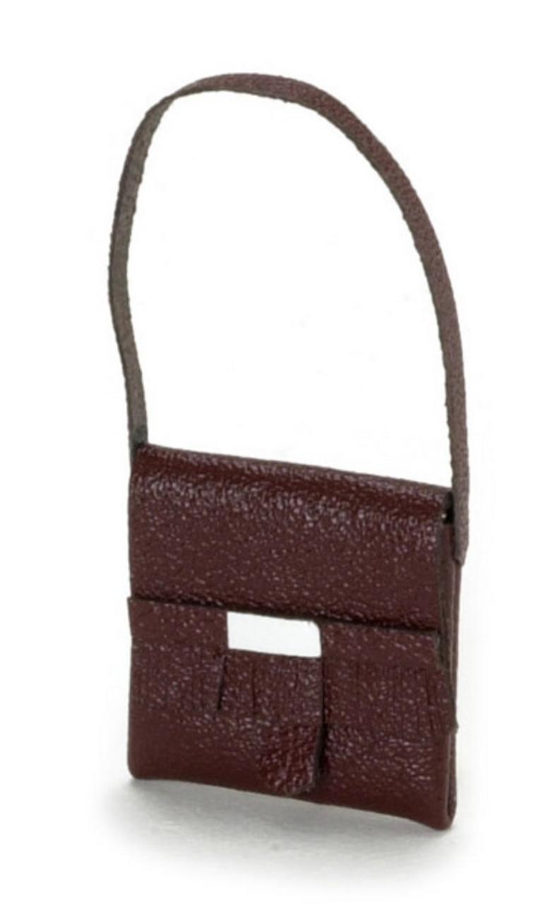Dollhouse City - Dollhouse Miniatures Lady's Handbag - Brown