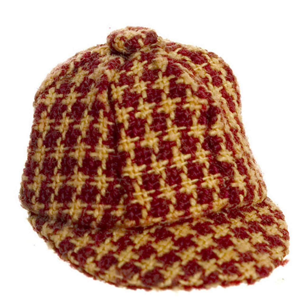 Dollhouse City - Dollhouse Miniatures Hat - Checkered Red